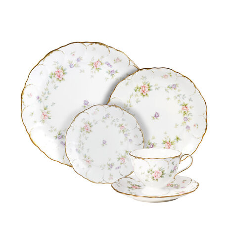 40 Piece Dinnerware Set with Bread and Butter Plate