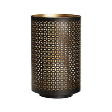 8 Inch Black Gold Mesh Luminary
