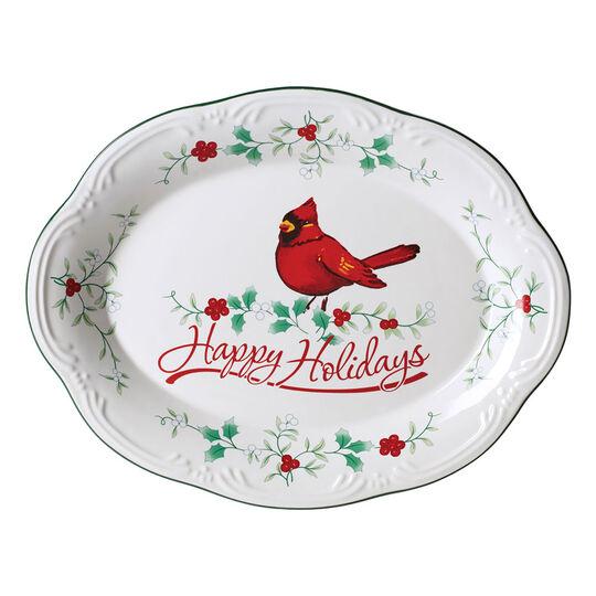 Cardinal Oval Platter