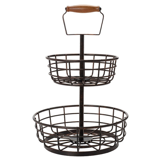 Adjustable 2 Tier Basket