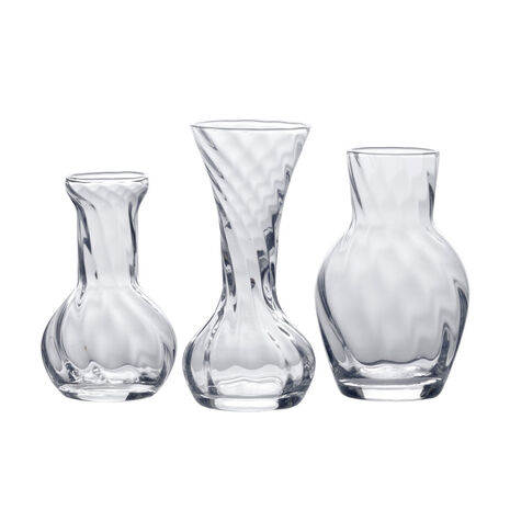 Set of 3 Assorted Glass Bud Vases