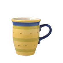 Coffee Mug With Blue Handle