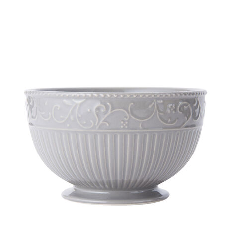 Scroll Grey Cereal Bowl