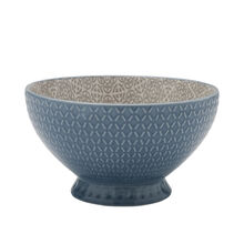Turquoise Footed Soup Bowl