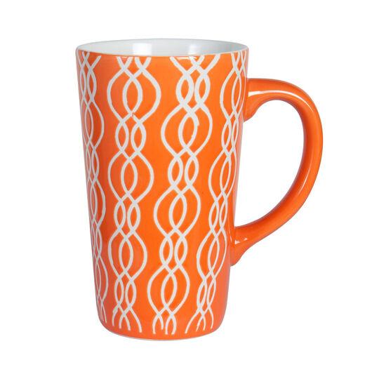Tall Orange Mug
