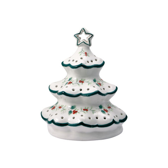Village Christmas Tree With LED Light, 6.5 Inch
