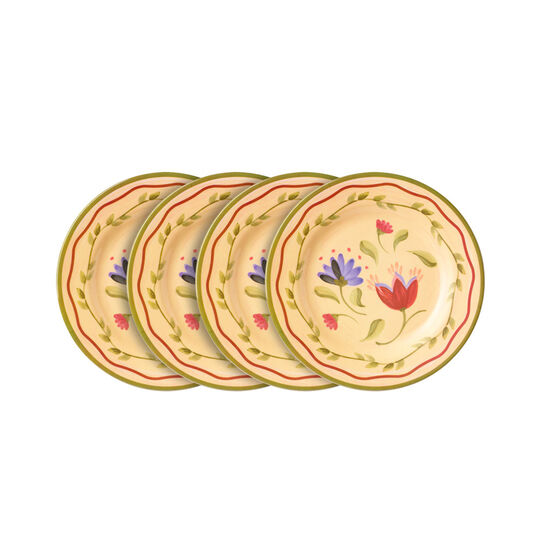 Set of 4 Melamine Salad Plates