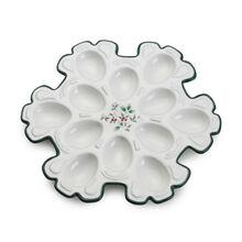 Snowflake Egg Plate
