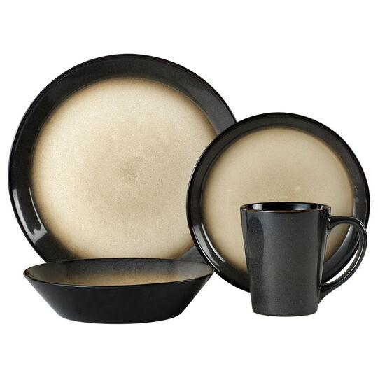 Gray 32 Piece Dinnerware Set
