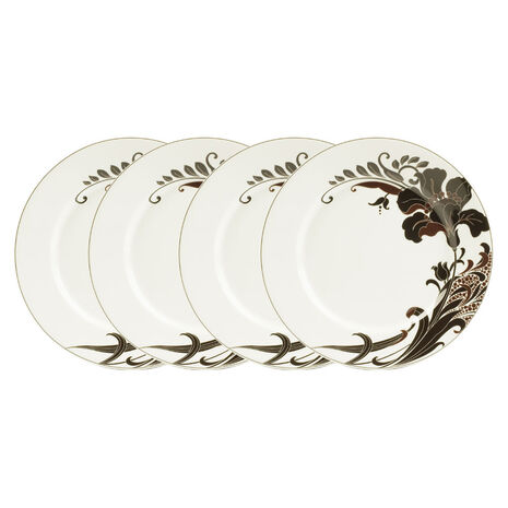 Set of 4 Lily Accent Plates