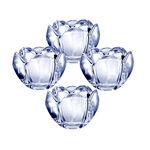 Set of 4 Glass Votives