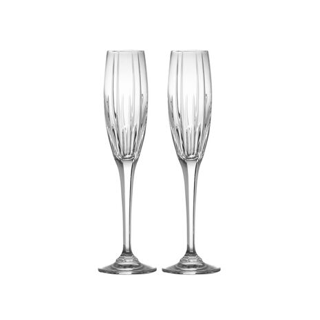 Crystal Champagne Flutes, Set of 2