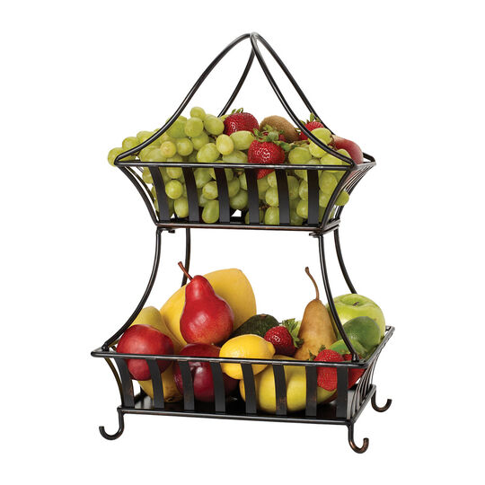 Stripe 2 Tier Countertop Basket