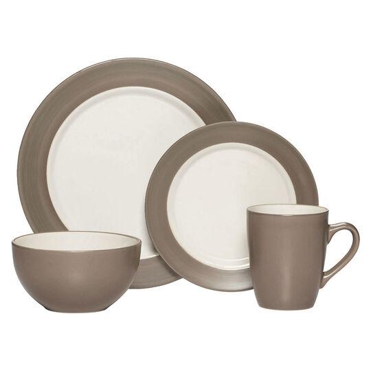 Taupe 32 Piece Dinnerware Set