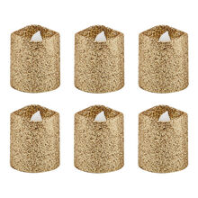 Set of 6 Gold Glitter LED Votive Candles