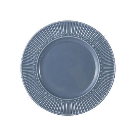 Fluted Blue Salad Plate