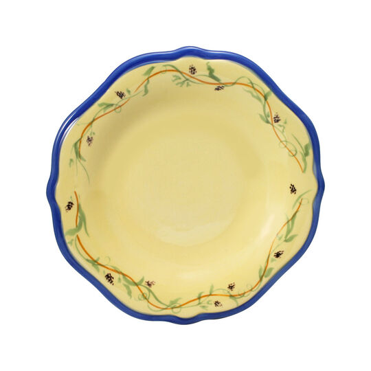 Salad Plate with Blue Band