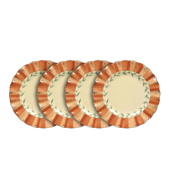 Set of 4 Fluted Salad Plates
