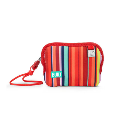 Striped Coin Card Holder Wristlet