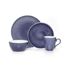 Cobalt 16 Piece Dinnerware Set