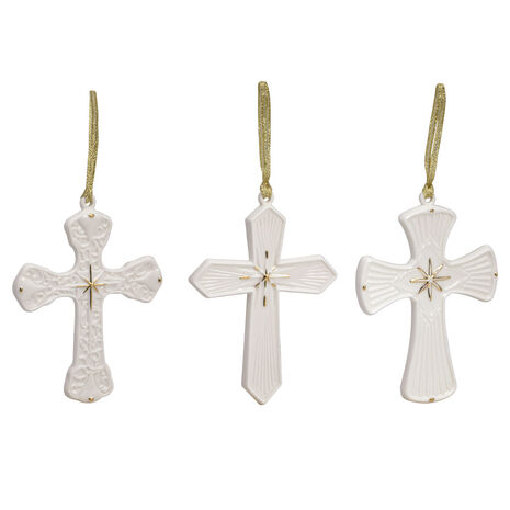 Set of 3 Cross Ornaments