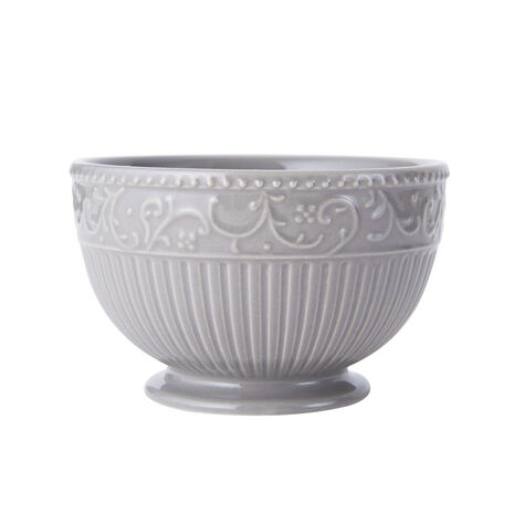 Scroll Grey Fruit Bowl