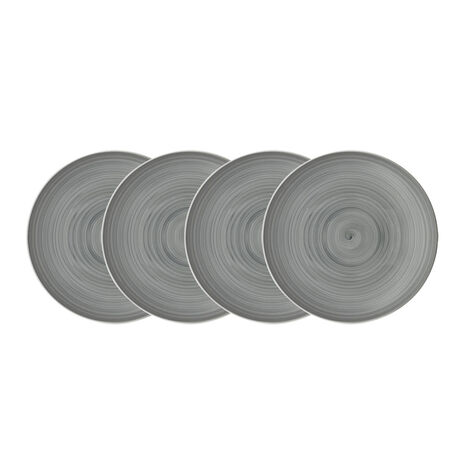 Grey Set of 4 Salad Plates