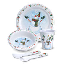 5 Piece Snowman Childrens Set