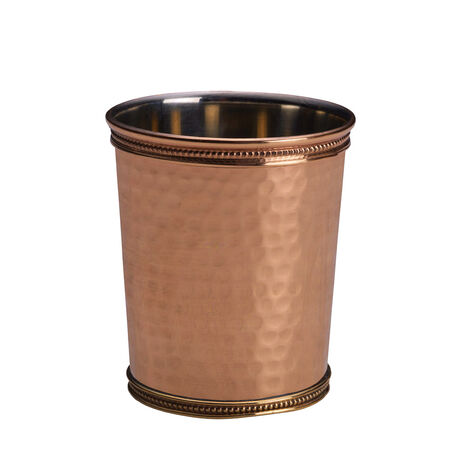 Copper Hammered Mint Julep Cup