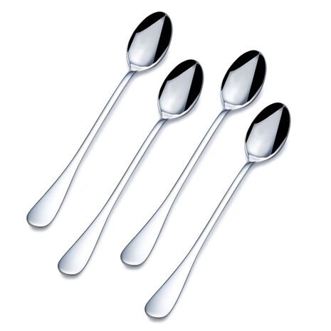 Set of 4 Basic Iced Beverage Spoons