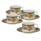 Tea Cups and Saucers, Set of 4
