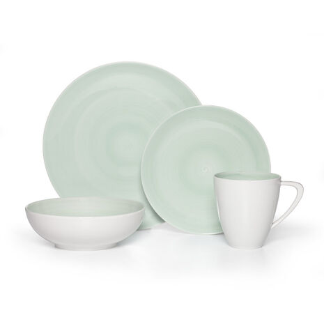 Teal 4 Piece Place Setting