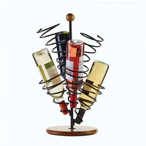 Spiral 6 Bottle Wire Wine Rack