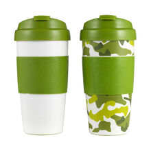 Set of 2 Flip Top Thermal Mugs