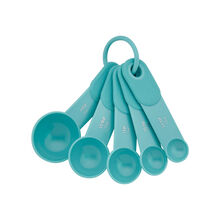 Set of 5 Aqua Sky Measuring Spoons