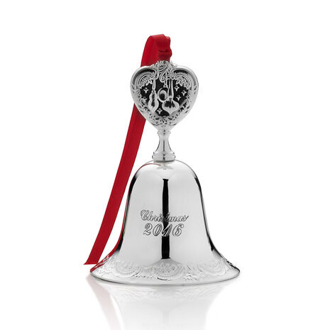2016 Silver Plated Bell Ornament, 22nd Edition