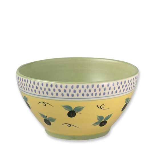 Deep Soup Cereal Bowl with Blue Band