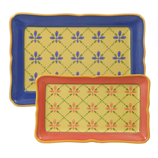 Set of 2 Rectangular Trays