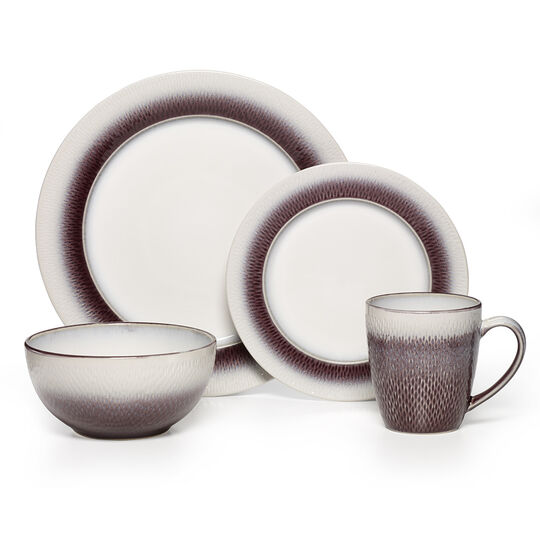 Plum 16 Piece Dinnerware Set