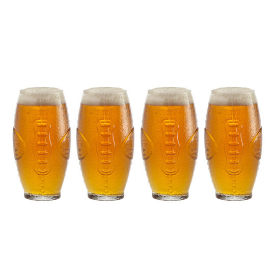 Set of 4 Football Tumblers