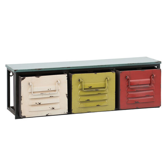 3 Bright Colorful Wall Storage Drawers