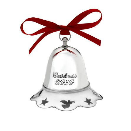 2010 Silver Plated Musical Bell Ornament, 30th Edition