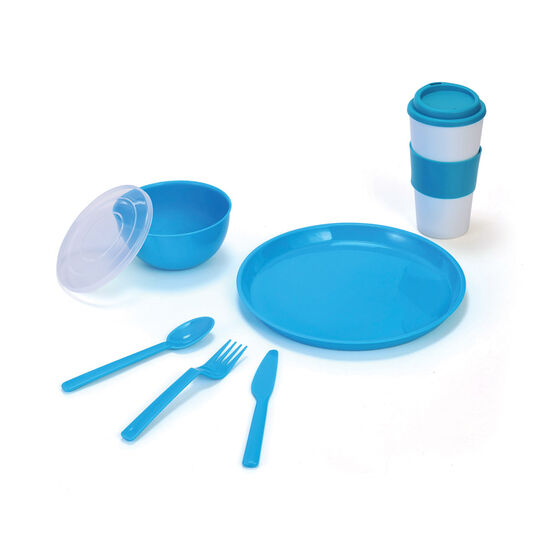 Blue Travel 8 Piece Set