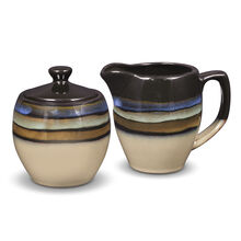 Blue Sugar and Creamer Set