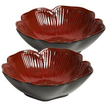 Set of 2 Red Figural Vegetable Bowl
