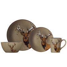 Deer 16 Piece Dinnerware Set
