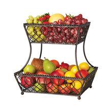 Loop Lattice 2 Tier Rectangular Basket
