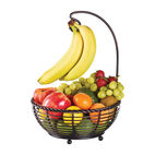 Rope Fruit Basket with Banana Holder