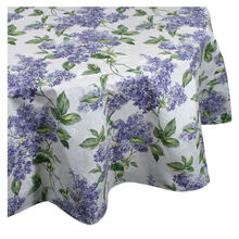 70 Inch Round Lilac Vinyl Tablecloth