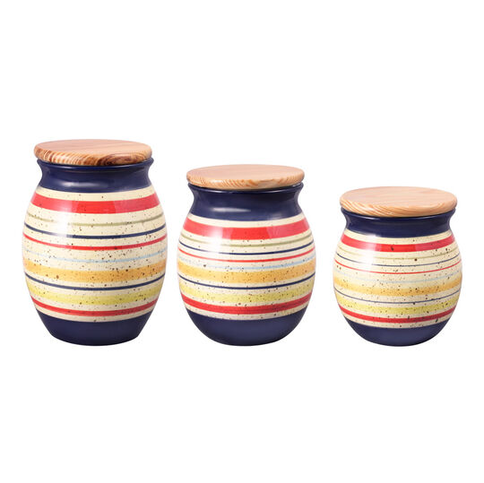 Set of 3 Sealed Canisters